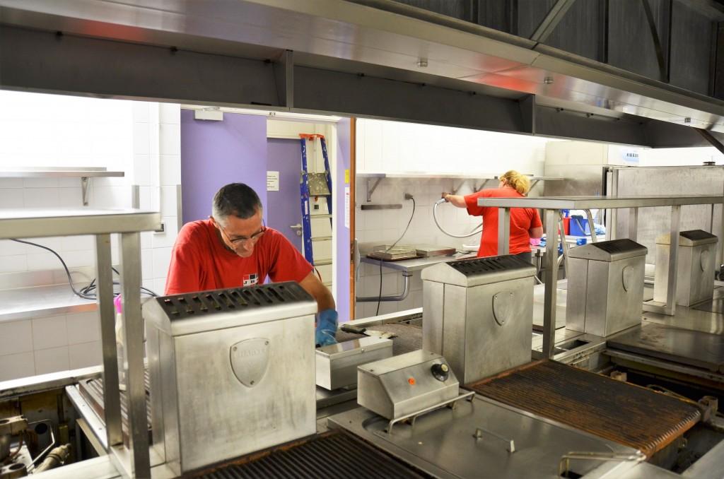 nettoyage vapeur / degraissage cuisine