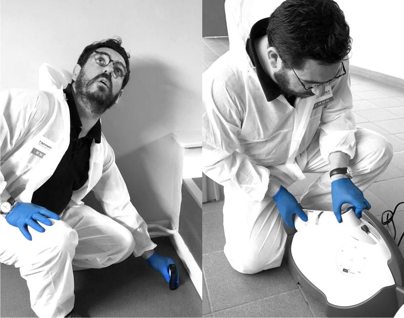Préparation prestation de désinfection par voie aérienne