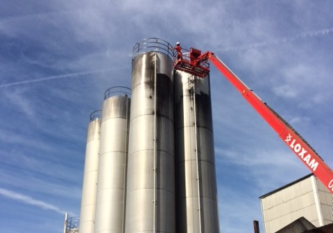 Nettoyage silo
