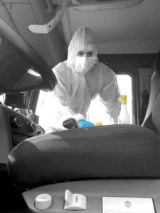 Désinfection des transports - cabine camion
