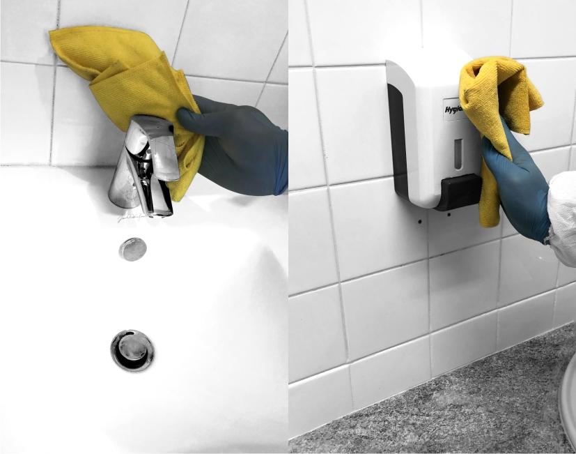 Nettoyage et désinfection des points de contact